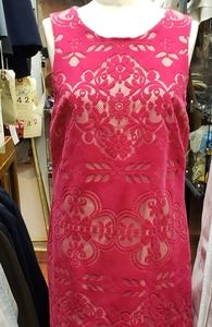 Cynthia Steffe Bright Pink Cutout Dress